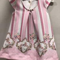 Vestido Floral - 0 a 3 meses - Kiki Xodó