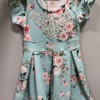 Vestido floral - 1 ano - Kiki Xodó