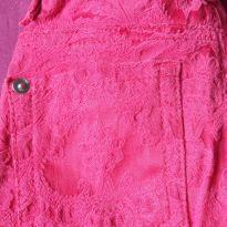 Calça vermelha aspecto bordado - 4 anos - sem etiqueta