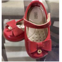 Sapato vermelho laço - 19 - Klin