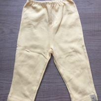 Calça amarelinha - 0 a 3 meses - Bicho Molhado