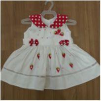 Vestido morango novo - 6 a 9 meses - Infanti
