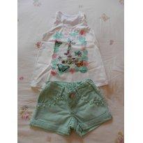 Conjunto Regata Borboletas Verão - 4 anos - Look jeans