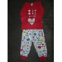 Pijama Material Escolar Inverno - 2 anos - Hering