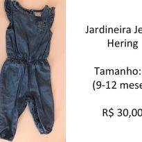 Jardineira Jeans Hering - 9 a 12 meses - Hering