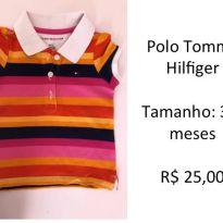 Polo Feminina Tommy Hilfiger - 3 a 6 meses - Tommy Hilfiger