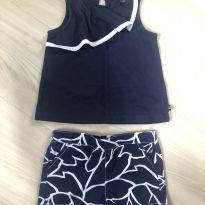 Conjunto Nautica - Blusinha e shorts (azul marinho e branco) - 18 a 24 meses - Nautica