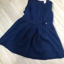 Vestido Carters Crepe Azul Marinho - 18 a 24 meses - Carters - Sem etiqueta