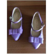 Sapato boneca roxo - 23 - Não informada