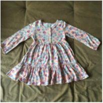 Vestido manga longa florido - 2 anos - PUC