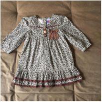 Vestido manga londa oncinha - 2 anos - Tip Top