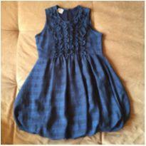 Vestido azul Petistil - 8 anos - Petistil