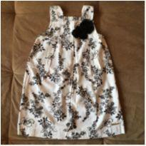 Vestido branco com flores - 6 anos - Milon