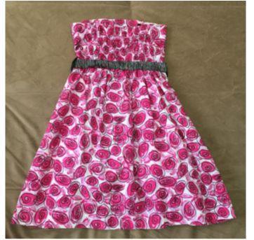 Vestido rosa escuro - 8 anos - Turma da Malha