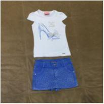 Conjunto camiseta e shorts saia - 3 anos - Le Petit