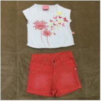 conjunto blusa e shorts Le Petit - 3 anos - Le Petit