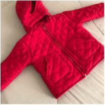 Casaco vermelho em matelassê - 9 a 12 meses - Sem marca