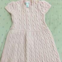 Vestido Ralph Lauren em tricô rosa bebê - 2 anos - Ralph Lauren