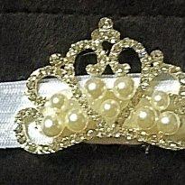 Faixa de Cabelo Branca com Coroa - Sem faixa etaria - Não informada
