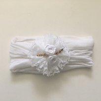 Faixa em meia seda Branca - Sem faixa etaria - artersanal