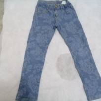 Calça jeans floral - 6 anos - Camú Camú