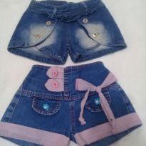 Shortinhos jeans - 3 anos - Não informada