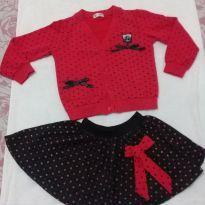 Conjuntinho inverno vermelho e preto - 6 anos - Importada