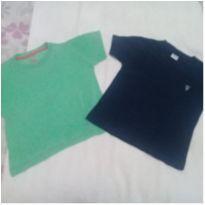 2 camisetas tamanho 3 - 3 anos - Não informada