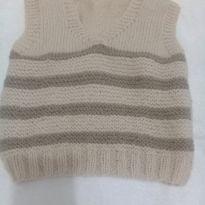 Colete de lã tamanho 2 - 2 anos - Artesanal