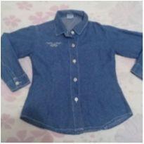 Camisa jeans infantil menina 8