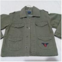 Jaqueta verde militar Mickey Aviador tamanho 4