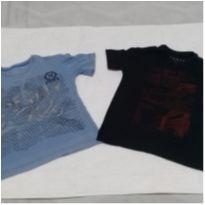 2 camisetas tamanho 4 - 4 anos - Não informada