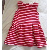 Vestidinho Vermelho de Listrinhas - 1 ano - Tip Top