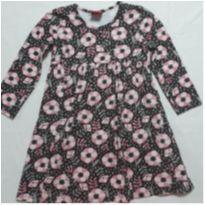 Vestidinho marrom com rosa - 3 anos - Kyly