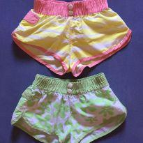 Kit com 2 shorts estampados - 6 anos - Caedu