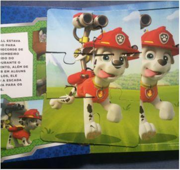 Livro Patrulha Canina com quebra-cabeças - Sem faixa etaria - Ciranda Cultural