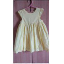 Vestido amarelo bebe, passeio - 3 anos - Nacional