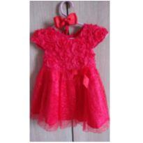 vestido luxo bebe - 6 a 9 meses - Importado