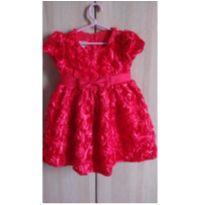 Lindissimo vestido luxo vermelho - 3 anos - Importada