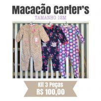 Macacão Carters Fleece - 12 a 18 meses - Carter`s