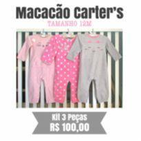 Kit Macacãoes Carters - 12 a 18 meses - Carters Pimpolho e Turma do Pé
