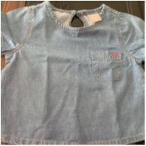 Blusa jeans - 4 anos - Hering Kids