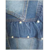 jaqueta jeans  com pérolas - 6 anos - Importada