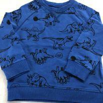 Moletom azul dinossauros - 18 meses - Carter`s