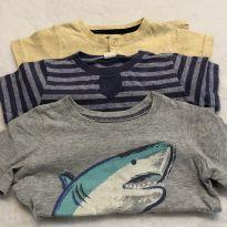 Trio de camisetas - 18 a 24 meses - Carter`s e Tip Top