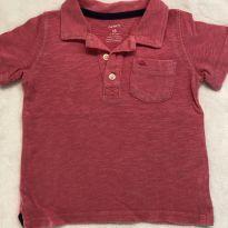 Camiseta polo rosa - 18 meses - Carter`s