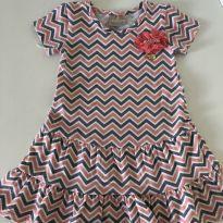 Vestido rosa e cinza - 9 a 12 meses - Milon