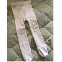 Meia calça rosa claro - 6 meses - Não informada