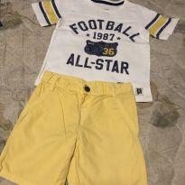 Conjunto Football amarelo - 2 anos - Carter`s e Hering Kids