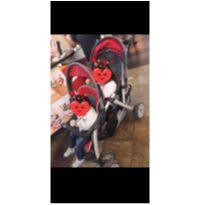 Carrinho duplo chicco cortina together double Stroller importado -  - Chicco